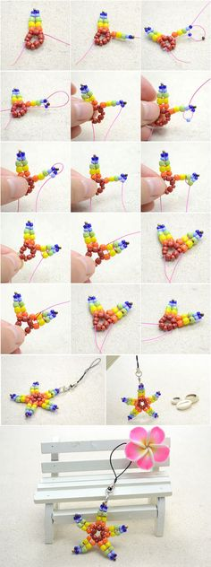 Tutorial for cute star phone charm from LC.Pandahall.com