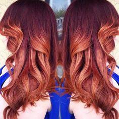 Creamy red and orange bay