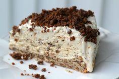 Daim ice cream cake. So good! Swedish Daim candy bar is similar to a Heath bar