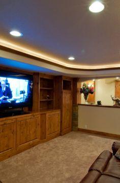 33 Basement Lighting Ideas | Sebring Design Build Laundry Room Lighting, Basement Lighting, Lighting Design, Lighting Ideas, Dramatic Lighting, Amazing Spaces, Basement Remodeling, White Trim, Wall Colors