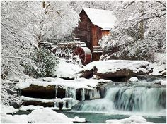 it'd be so cool to live in an old gristmill and hear the water spilling over the wheel...