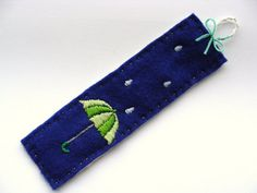 ON SALE 50 OFF  Hand Embroidered Bookmark  by OnTheWallByYoko, $7.50 Repinned by RainyDayEmbrdry www.etsy.com/shop/RainyDayEmbroidery