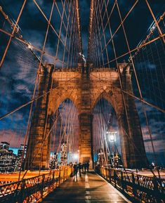 Brooklyn Bridge NYC by Michael Steric by - The Best Photos and Videos of New York City including the Statue of Liberty Brooklyn Bridge Central Park Empire State Building Chrysler Building and other popular New York places and attractions. Visit New York City, New York City Travel, New Travel, New York Central, Central Park, Lake George Village, City Aesthetic, Upstate New York, Brooklyn Bridge