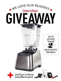 Blendtec Giveaway (2 Winners!)