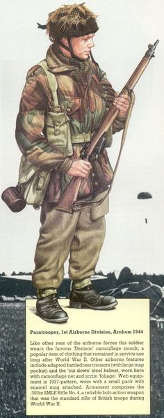 """British Helmets and Other Equipment in World War Airborne Helmet From """"The Elite: The Worlds Crack Fighting Men - The Airborne"""", by Ashley Brown & Jonathan Reed, The National Historical Society Publications, 1989, (p 85)"""