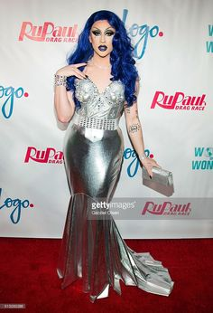 Laila McQueen arrives to the premiere of Logo's 'RuPaul's Drag Race' Season 8 at Mayan Theater on March 2016 in Los Angeles, California. Rupaul Drag Queen, Drag Queens, Season 8, Crossdressers, Cool Outfits, Gay, Female, Formal Dresses