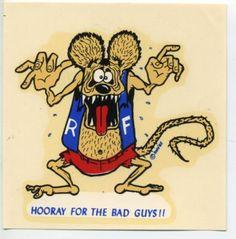 vintage Ed Roth decals.  stores.ebay.com/rockabillyhoodlum  #edroth #bigdaddyroth #edbigdaddyroth #rothstudios #ratfink #hotrod #dragrace #kustomkulture #rockabilly