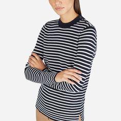 Everlane | The Merino Wool Stripe High Crew Sweater