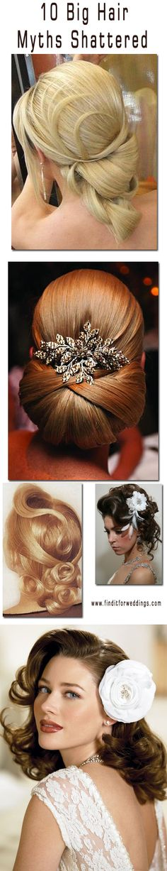 10 hair care myths broken #wedding hair styles wedding #updos http://www.finditforweddings.com