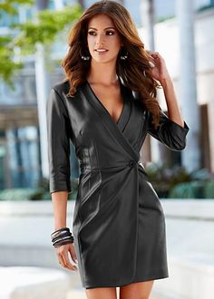 Black (BK) Faux Leather Coat Dress $59 The coat dress is an absolute essential for your chic look. Style #Z39710