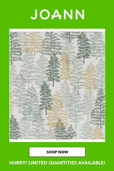43 Inches100% CottonHand wash cold, nonchlorine bleach, line dry, do not ironImported Western Red Cedar, Joanns Fabric And Crafts, Craft Stores, Cotton Fabric, Metal, Holiday, Green, Bleach, Cold
