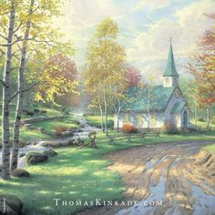 """""""Aspen Chapel"""" was painted in 2001. A grove of aspens is an idyllic place for worship. This piece was painted after a hiking excursion to the Hope Valley in the Sierra Mountains."""