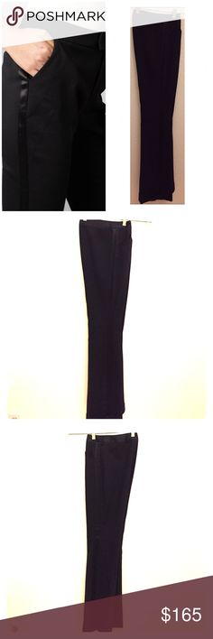 """Dolce & Gabanna Tuxedo Pants Size 4 (Italian), waist 27, inseam 33"""", wool blend, silk band on both legs, two front pockets, cuffed with slight flare. In excellent condition. Dolce & Gabbana Pants"""