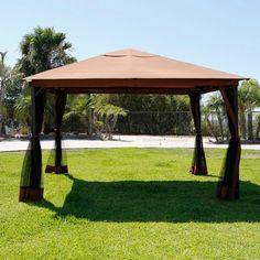 10' x 12' Outdoor Backyard Patio Regency Patio Canopy Gazebo Tent Mosquito Net…