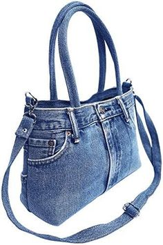 online shopping for BDJ Classic Blue Denim Jean Pants Women Top Handle Handbag Purse from top store. See new offer for BDJ Classic Blue Denim Jean Pants Women Top Handle Handbag Purse Artisanats Denim, Denim Bags From Jeans, Blue Jean Purses, Denim Jean Purses, Red Purses, Denim Ideas, Denim Crafts, Diy Jeans, Diy Denim Purse