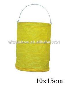 effen kleur cilinder papier kandelaar lantaarn