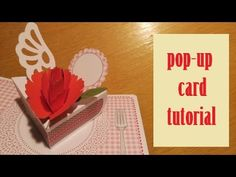 pop-up card - carnation card - papercraft - tutorial - dutchpapergirl - YouTube