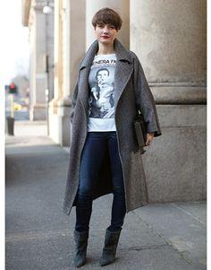 Coat + T-shirt