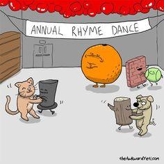 Grammar humor. Poor orange!