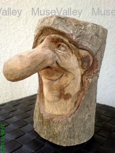Wood Crafting custom made wood head