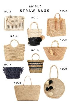 The Best Straw Bags – Emily Lucille The Best Straw Bags This image has get Boho Bags, Basket Bag, Summer Bags, Spring Summer, Cute Bags, Knitted Bags, Sisal, Handmade Bags, Bag Making