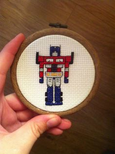 optimus prime cross stitch