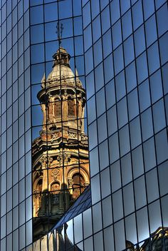 "themadgadabout: "" I think this photo acts as a metaphor for the combination of old and new that you can find in Santiago de Chile today. (by Roger Flores) "" Amazing Places On Earth, Beautiful Places, Latin America, South America, Central America, In Loco, The Beautiful Country, Beautiful Buildings, Travel Pictures"