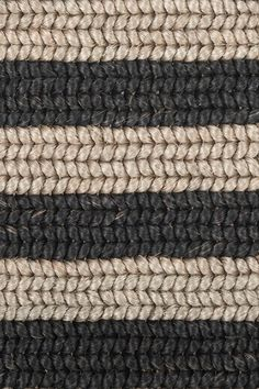 Belted Stripe handwoven abaca rug in Feather Gray, by Merida.