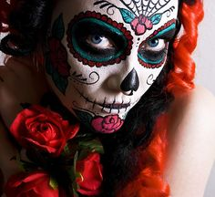 Day of the Dead Costumes Women | day-of-the-dead-make-up-makeup-dia-de-los-muertos-halloween-spanish ...