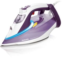 Philips PerfectCare Azur Steam Iron with Optimal Temperature Technology and T-Ionic Glide Soleplate, Litre, 2600 Watt, Blue Steam Iron Reviews, Best Steam Iron, Laundry Appliances, Home Appliances, Steam Generator, Harvey Norman, Philips, Buy Kitchen, Purple