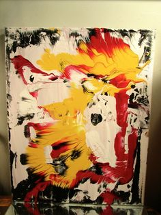CANVAS PAINTING MUSK YAI 16x20  ABSTRACT SIGNED ORIGINAL FINE ART MODERN NY 2015 #Abstract