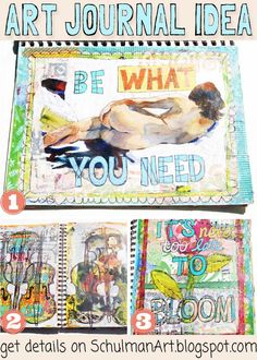 art journal ideas and inspiration for your pages by @schulmanArt on http://schulmanart.blogspot.com/2015/08/art-journal-inspiration-pieces-of-me.html