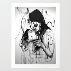 Kiss Art Print by Robin Persson - $20.00