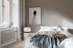 Wonderful AW catalog by Swedish brand BYON - My Cozy Home Interior Finds - internationally inspired Brown Bedroom Walls, Light Brown Bedrooms, Brown Walls, Cozy Bedroom, Room Decor Bedroom, European Bedroom, Brown Decor, Bedroom Styles, Room Colors