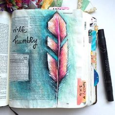 Bible Journaling by Ashley Bryan Scripture Art, Bible Art, Bible Scriptures, Bible Quotes, Scripture Journal, Book Art, Bibel Journal, Bible Illustrations, Illustrated Faith