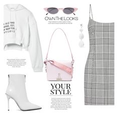 """Outfit #87: Alexander Wang x Off-White"" by mariluz-garcia ❤ liked on Polyvore featuring Alexander Wang, T By Alexander Wang, Off-White, Dinosaur Designs, Illesteva and Pussycat"