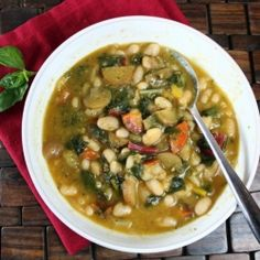 White Bean Pesto Soup: Start the new year with this hearty vegan soup