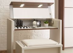 Cali Dressing Table - Champagne and Dark Wood