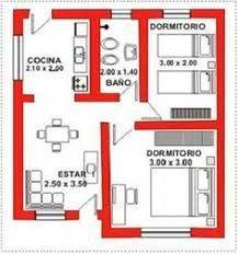 Resultado de imagen para planos de 20m2 #casaspequeñasplanos