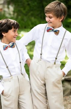 bow ties and mini suspenders!