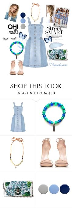 """Shades Of Blue"" by shop77spark ❤ liked on Polyvore featuring STELLA McCARTNEY, Stuart Weitzman, Dolce&Gabbana, Burberry and tarte"