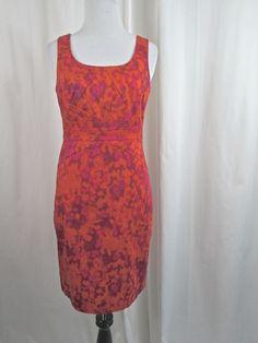 Michael Kors Orange Pink Purple Sheath Dress Career Size 2 Petite 2P Excellent #MichaelKors