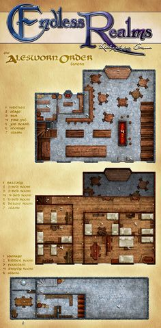 Endless Realms - Brimtide Campaign - Tavern Map by jocarra.deviantart.com on…