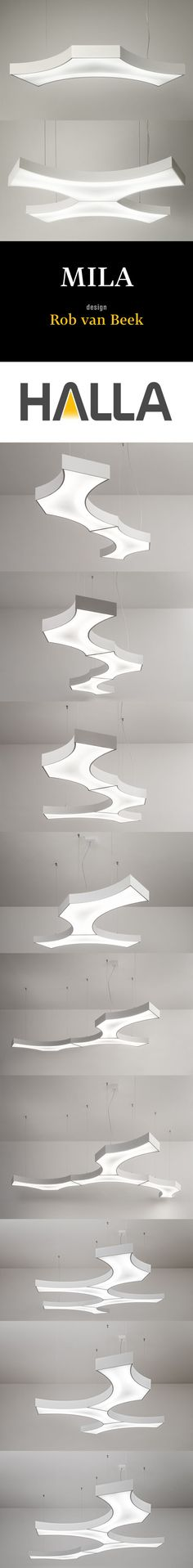 HALLA MILA #LED #Lighting system offers an unlimited freedom of various shapes by combining just one light fixture. Individual #light #fixtures are coupled by a unique magnetic system without using other tools; this is why assembling the lighting system is very simple, allowing many alternatives in respect of the shape and #architecture.