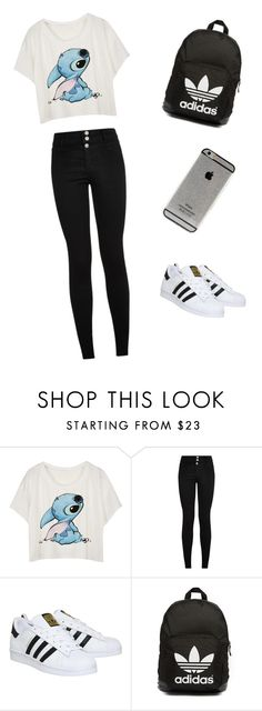 """""""#Mégane #Meilleure !! """" by cindygino ❤ liked on Polyvore featuring mode, adidas et adidas Originals"""
