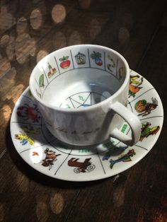 Vintage cup & saucer with symbols & zodiac signs. Learn the art of reading tea leaves or coffee grounds with this beautiful set. A traditional divinatory method, it will allow you to make p… Vintage Cups, Vintage Tea, Young Living Pets, Coffee Cup Reading, Reading Tea Leaves, Pagan Witchcraft, Cuppa Tea, Fortune Telling, Loose Leaf Tea