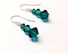 Crystal Butterfly Earrings tassel earrings by OohlalaBeadtique
