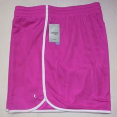 Danskin Women's Plus Loose Fit Workout Gym Shorts XXL 2X (20) Bright Pink NEW #DanskinNow #Shorts