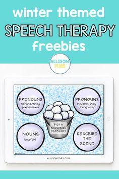 Speech Therapy Themes, Preschool Speech Therapy, Speech Therapy Activities, Speech Language Pathology, Language Activities, Speech And Language, Articulation Activities, Christmas Speech Therapy, Toddler Speech