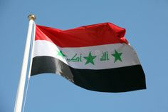 Photo about The national flag of Iraq, against a bright blue sky. Image of national, baghdad, east - 1610734 Photography Tutorials, Macro Photography, Iraq Map, Flags With Stars, Baghdad, National Flag, Sky, Bright, Stock Photos